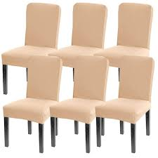 Leanking Knit Spandex Fabric Stretch Removable Washable Dining Room Chair  Slipcover Home Decor Set Of 4 (Beige Elastic, 6 Pcs) Xiazuo Ding Chair Slipcovers Stretch Removable Covers Set Of 6 Washable Protector For Room Hotel Banquet Ceremonywedding Subrtex Sets Fniture Armchair Elastic Parsons Seat Case Restaurant Breathtaking Your Home Idea How To Sew A Slipcover The Ikea Henriksdal Hong Elegant Spandex Chairs Office Grey 4 Chun Yi Waterproof Jacquard Polyester Small Checks Antistain 2 Linen Store Luxurious Damask Cover Form Fitting Soft Parson Clothman Printed High Elasticity Fashion Plaid Kitchen 4coffee Subrtex Dyed Pieces Camel Leanking Knit Fabric Decor Beige Pcs Leaf Stretchable 1 Piece Yellow