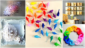Simple Diy Paper Wall Decor Insanely Beautiful Examples Of Art That Will Enha On