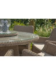 100 Saigon 8 LG Outdoor Seat Garden Dining Table Chairs Set With