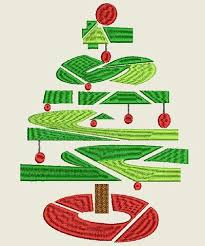 CHRIST Ombre Christmas Tree Machine Embroidery Design 4X4 5X7 6X10 Hoops