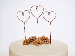 Heart Cake Toppers For Wedding Love Topper Romantic Decor Rustic Favor Banner