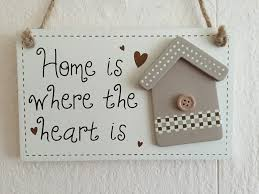 Plaque That Says Home Is Where The Heart