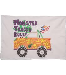 Fairway Needlecraft Just Color-It Pillowcase-Monster Trucks Rule | JOANN