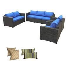 Rattaner Outdoor Wicker Furniture Set -4 Piece Patio PE Rattan Garden  Sectional Conversation Cushioned Seat Couch Sofa Set Royal Blue Cushion Pillow Perfect Ggoire Prima Blue Chaise Lounge Cushion 80x23x3 Outdoor Statra Bamboo Adjustable Sun Chair Royal With Design Yellow Carpet Wning And Walls Rug Brown Grey Gray Paint Shop For Outime Patio Black Woven Rattan St Kitts Set Wicker Bright Lime Green Cushions Solid Wood Fntiure Best Rattan Garden Fniture And Where To Buy It The Telegraph Garden Backrest Cushioned Pool Chairroyal Salem 5piece Sofa Fniture Sectional Loveseatroyal Cushions2 Piece Sunnydaze Bita At Lowescom