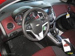 Jet Black Sport Red Interior 2013 Chevrolet Cruze LT RS