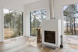 100 Scandinavian Design Houses Modern Log Cabin Set On A Beautiful Baltic Sea Island
