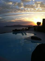 100 Aenaon Villas Sunset From The Infinity Pool Santorini Www