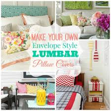 How to Make DIY Envelope Style Lumbar Pillow Covers the STARS of