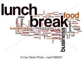 Lunch Break Word Cloud