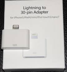 Chargers 30 pin to 8 pin Lightning Adapter for new iPhone 5 ipad