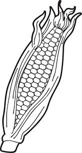 FREE Printable Ear Of Corn Coloring Page For Kids