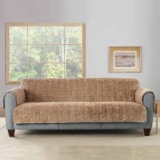 Sure Fit Sofa Covers Ebay by Sure Fit Faux Fur Loveseat Slipcover Blonde Ebay
