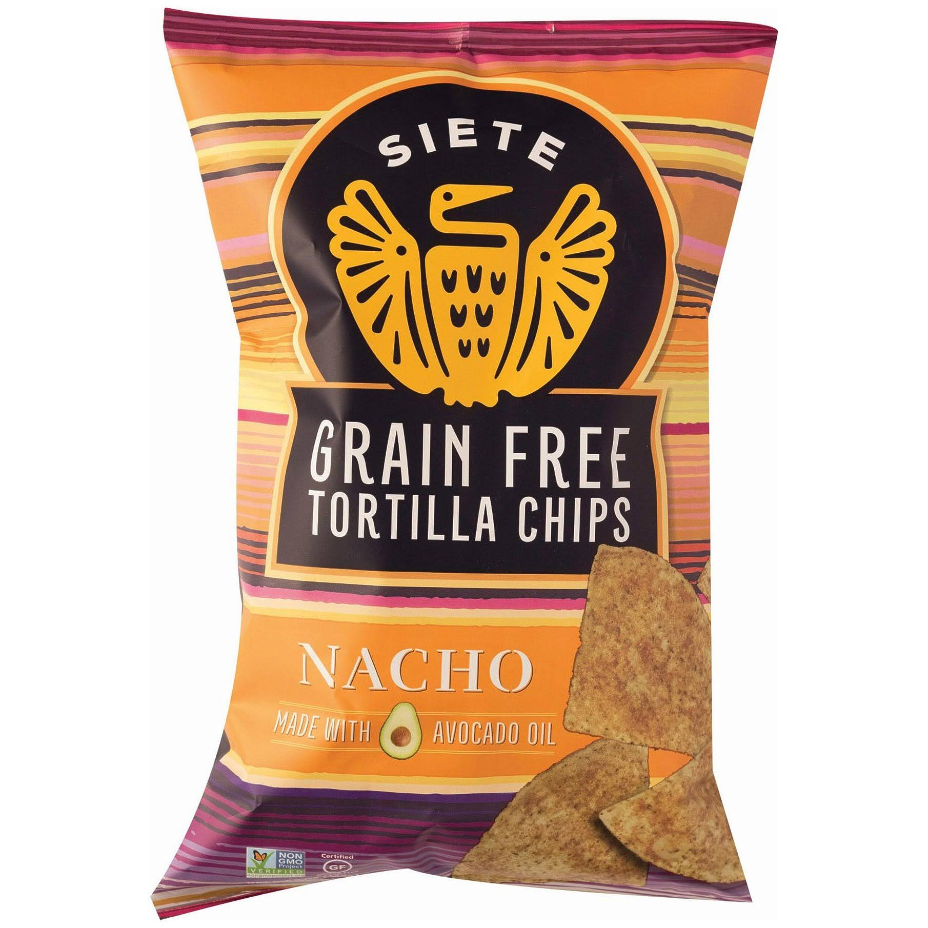 Siete Nacho Grain Free Tortilla Chips - 5 oz packet