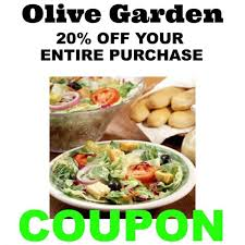 Coupons For Olive Garden Restaurant