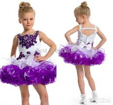 gorgeous white and purple bead cute flower dress toddler
