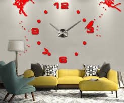 Medium Size Of Unique Large Oversized Diy D Wall Clock Angel Guardian Digital Cheap