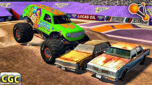 100 Monster Trucks Crashing Truck Crashes Jam BeamNg Drive 2 YouTube