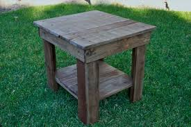 End Tables Designs Outdoor Table Rustic Green Brown Diy Varnished Inspiring Interior Design 4 Legs Useful Lacquered Stunning Wooden Small Size