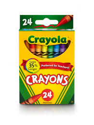 crayola classic crayon featuring new blue bluetiful 24 count