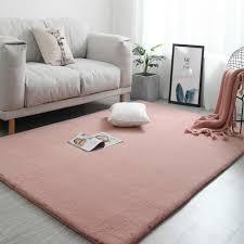 plüsch weiche shaggy teppich für wohnzimmer faux kaninchen