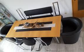 esszimmer echtholz esstisch stühle bank