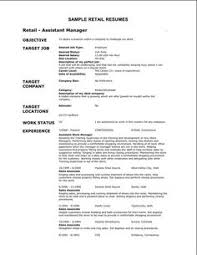 Sales Assistant CV Example Shop Store Resume Retail Curriculum Pinterest