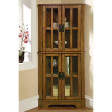 Walmart Corner Curio Cabinets by Coaster Company Curio Cabinet With Window Panel Styled Doors