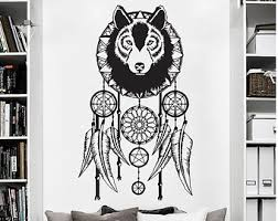 Wall Art Ideas Design Bedroom Stickers Dreamcatcher Wolf Animal Cool Amazing Image Printable Books Shelves Decorations Awesome