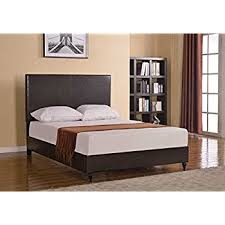 King Platform Bed With Leather Headboard by Amazon Com Home Life Brown Leather 47