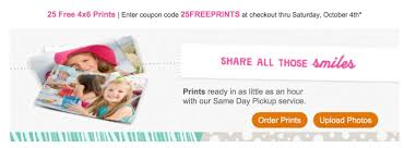 HOT STEAL! 25 FREE 4×6 Photo Prints + Free Pick Up In Store At ... Free 810 Photo Print Store Pickup At Walgreens The Krazy How Can You Tell If That Coupon Is A Scam Plan B Coupon Code Cheap Deals Holidays Uk Free 8x10 Living Rich With Coupons Pick Up In Retail Snapfish Products Expired Year Of Aarp Membership With 15 Purchase Passport Picture Staples Online Technology Wildforwagscom Deals Your Site Codes More Thrifty Nw Mom Take 60 Off Select Wall Items This Promo Code