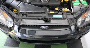 replace the front parking light bulbs on a subaru impreza wrx