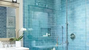 Light Blue Subway Tile by Beach House Bathrooms Coastal Living
