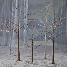 John Lewis These Pre Lit Copper And Silver Birch Trees Will Help You Create