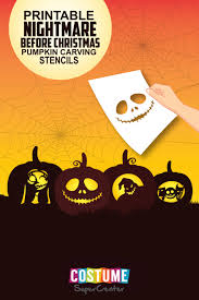 Nightmare Before Christmas Pumpkin Template by Nightmare Before Christmas Pumpkin Carving Stencils Costume