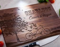 Personalized Cutting Board Wedding Gift Engraved