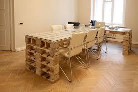 bureau en bois bureau palette awesome bureau bois et metal palette moderne