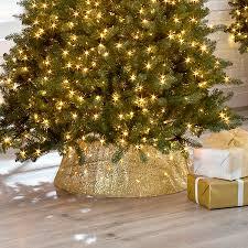 Mesh Lighted Christmas Tree Collar