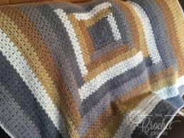 Crochet Log Cabin Quilt Style Modern Granny Afghan The Crochet