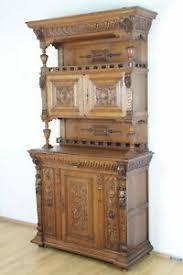 details zu buffet gründerzeit anrichte eiche massivholz wohnzimmer möbel esszimmer antik