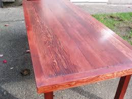 Finishing Douglas Fir Flooring by Driftedge Woodworking Reclaimed Douglas Fir Coffee Table With