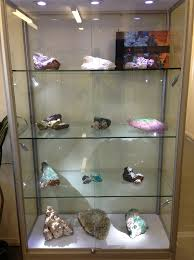 Upright Rock Mineral Display Case By Showfront