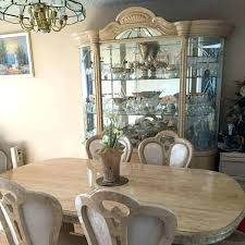 Italian Dining Room Sets Set With Table 6 Chairs And China