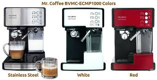 Mr Coffee Espresso Maker Colors Stainless Steel White Red Stovetop Parts