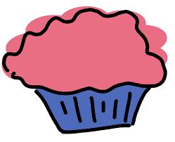 pink purple cupcake clipart
