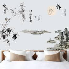 bambus wand aufkleber große größe baum chinesische vintage poster junge mädchen zimmer dekoration ästhetischen wohnzimmer schlafzimmer kunst