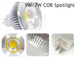 10pcs seller cob led mr16 12v dimmable 5w 7w warm white