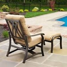 Patio Chair With Hidden Ottoman by Alfresco Home Bay View Bistro 26 Inch Table And Chairs Set Glossy