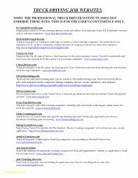 Truck Driver Resume Format Best Of Truck Driver Resume Template Best ...