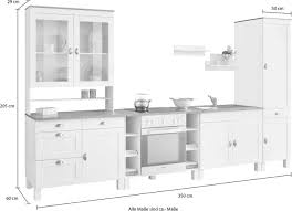 home affaire küchen set oslo 7 tlg ohne e geräte