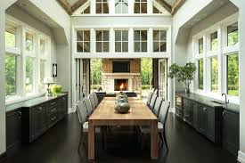 Dining Room Buffet With Glass Doors Vaulted Ceilings And Folding That